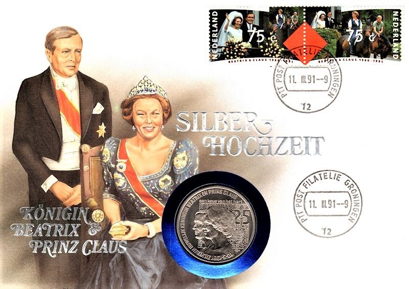 Königin Beatrix & Prinz Claus - Silberhochzeit 11.03.1991