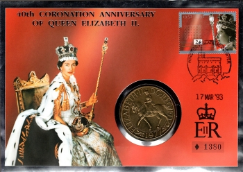 40th Coronation Anniversary of Queen Elizabeth II - 17.03.1993
