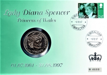 Lady Diana Spencer, Princes of Wales 01.07.1961 - 31.08.1997