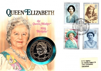 Queen Elizabeth - 90th Birthday of Queen Mother - 02.08.1990