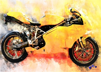 High quality art print - Motorcycle