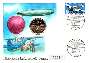 Historic airmail promotion - Graf Zeppelin - Berlin 09.04.1991
