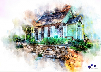 High quality art print - Small house