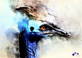 High quality art print - Blue bird